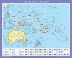 Австралія та Океанія. Політична карта