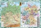 Deutschland. Фізична карта. Політико-адміністративна карта, м-б 1:1 000 000
