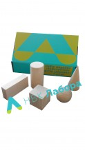 Набір моделей геометричних тіл та фігур (дерево) 5 шт