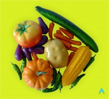 Муляжі овочів