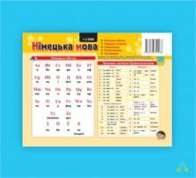 Комплект таблиць до основних розділів граматичного матеріалу (роздавальний, мова - німецька)