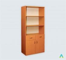 фото - Шафа книжкова з 2 шухлядами 2-дверна (глибина 380 мм)