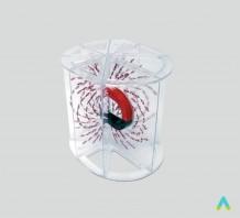 фото - Модель для демонстрації ліній магнітного поля в об'ємі