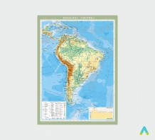 фото - Південна Америка. Фізична карта