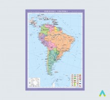 Південна Америка. Політична карта