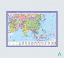 фото - Азія (Центральна, Південно-Західна, Південна, Південно-Східна та Східна частини). Політична карта