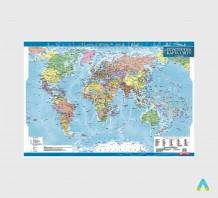 Політична карта світу, м-б 1:35 000 000 (ламінована)