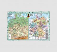 фото - Deutschland. Фізична карта. Політико-адміністративна карта, м-б 1:1 000 000
