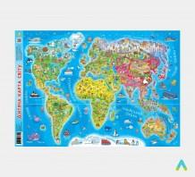 фото - Дитяча карта світу