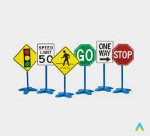фото - Набір дорожніх знаків