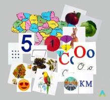 фото - Набір карток до мовно-літературної, природничої та математичної освітніх галузей