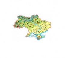 """фото - Карта """"Рослини і тварини"""". Моя Україна"""