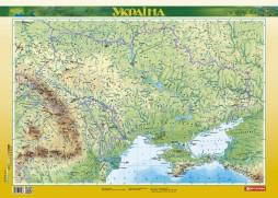 Україна. Фізична карта, м-б 1:2 500 000 (ламінована на планках)