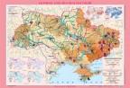 Україна. Екологічна ситуація, м-б 1:1 000 000 (на картоні, на планках )
