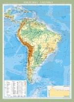 Південна Америка. Фізична карта