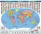 Світ. Політична карта, м-б 1:70 000 000 (ламінована)