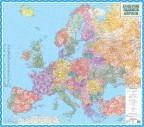 Поштові індекси Європи, м-б 1:4 000 000 (на картоні на планках)