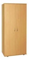 Шафа для одягу з овальною штангою (глибина 496мм)
