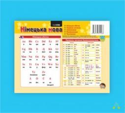 фото - Комплект таблиць до основних розділів граматичного матеріалу (роздавальний, німецька мова)