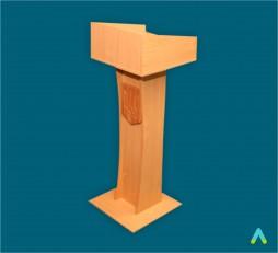 фото - Трибуна з вузькою основою з гербом 500х500х1350