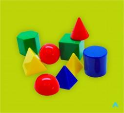 Набір моделей геометричних тіл та фігур (пластик)