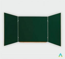 фото - Дошка аудиторна 3-створчата 4000*1000 мм, магнітна під крейду