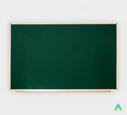 фото - Дошка аудиторна, одинарна, магнітна зелена, під крейду з лотком 1500*1000 мм