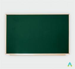 фото - Дошка аудиторна, одинарна, магнітна зелена, під крейду з лотком 1200*1000 мм