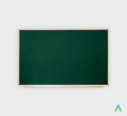 фото - Дошка аудиторна, одинарна, магнітна зелена, під крейду з лотком 2000*1000 мм