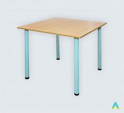 фото - Стіл для їдалень квадратний 4-місний, кругла труба, ростова група №6
