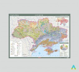 фото - Україна. Грунти, 1:1 000 000 (на планках)