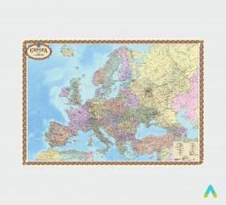 фото - Європа. Політична карта, 1:4 000 000 (на картоні)