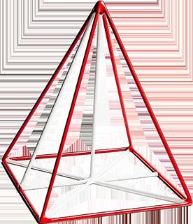 Правильна чотирикутна піраміда - фото