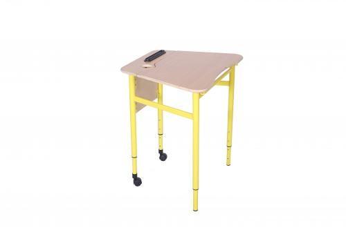 Стіл трапецеподібний мобільний з регулюванням  кута нахилу стільниці, №3-5