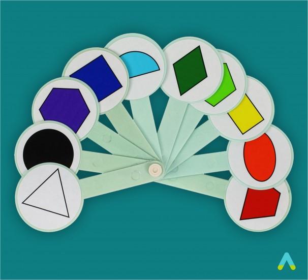 Віяло кольорів та геометричних фігур - фото