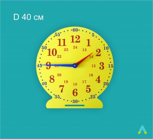 Лабораторна модель механічного годинника, настільна (24 години, годинна, хвилинна стрілки) - фото