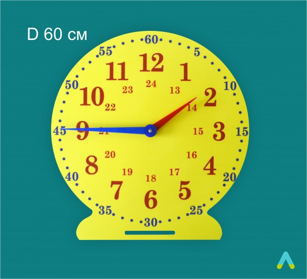 Лабораторна модель механічного годинника. D 60 см - фото