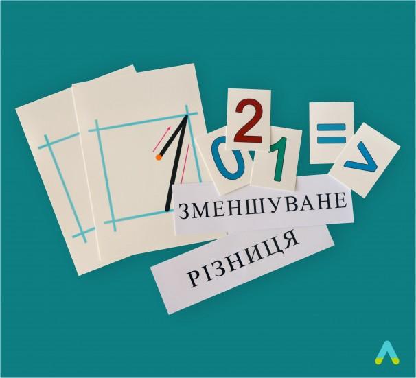 Демонстраційний набір цифр і знаків на магнітах - фото