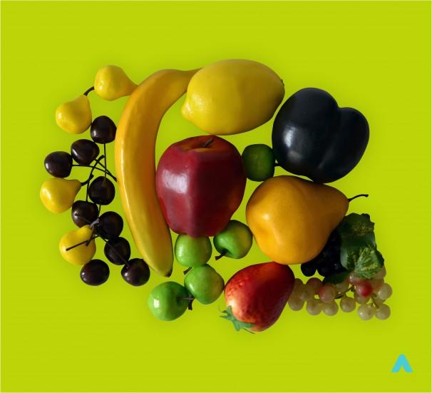 Набір муляжів фруктів - фото