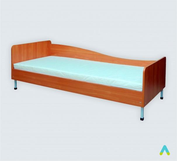 Ліжко 1-спальне з заокругленими спинками, 1936*840*(660-570) мм - фото