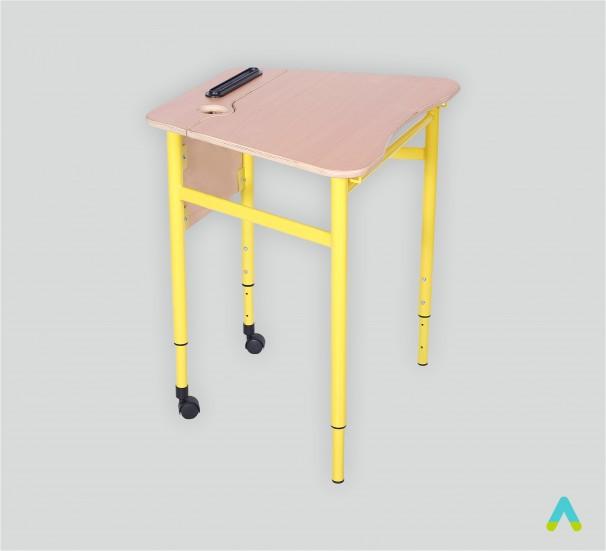 Стіл трапецеподібний мобільний з регулюванням  кута нахилу стільниці, №3-5 - фото