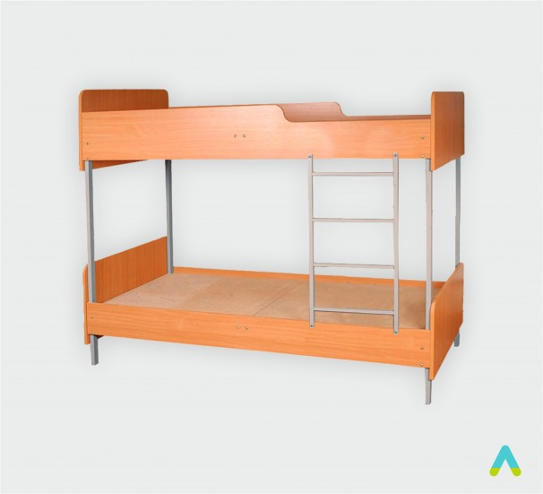 Ліжко 2-ярусне з заокругл., на метал каркасі, 1950х850х1778 мм - фото