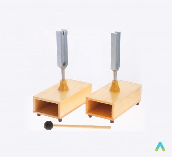 Камертони на резонансних ящиках (пара) - фото