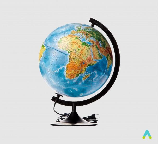 Глобус фізико-політичний з підсвіткою - фото