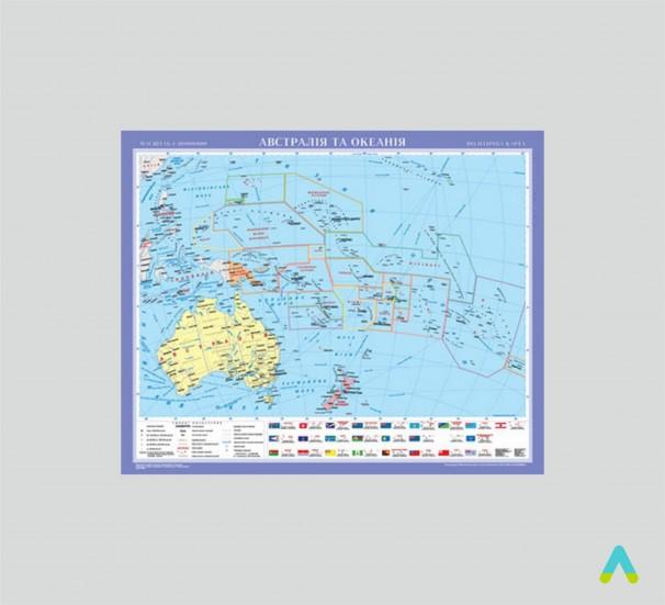 Австралія та Океанія. Політична карта - фото