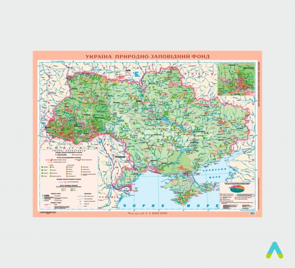 Україна. Природно-заповідний фонд, м-б 1:1 000 000 (на планках) - фото