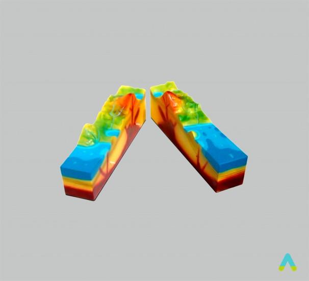 """Модель розбірна """"Будова вулкану"""" - фото"""