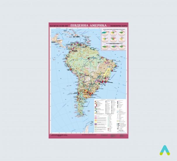 Південна Америка. Економічна карта - фото