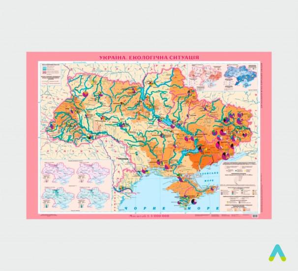 Україна. Екологічна ситуація, 1:1 000 000 (на планках) - фото