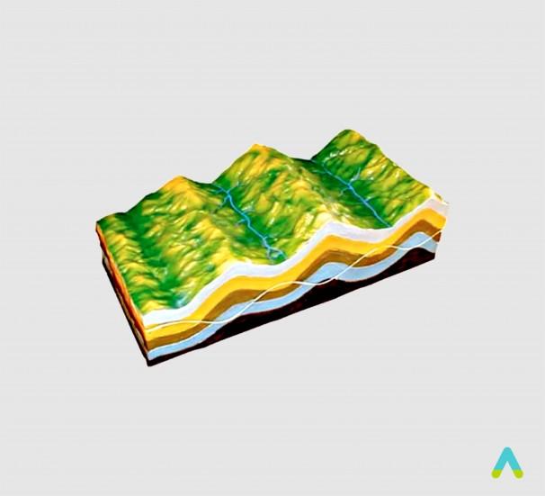 Модель будова земних складок
